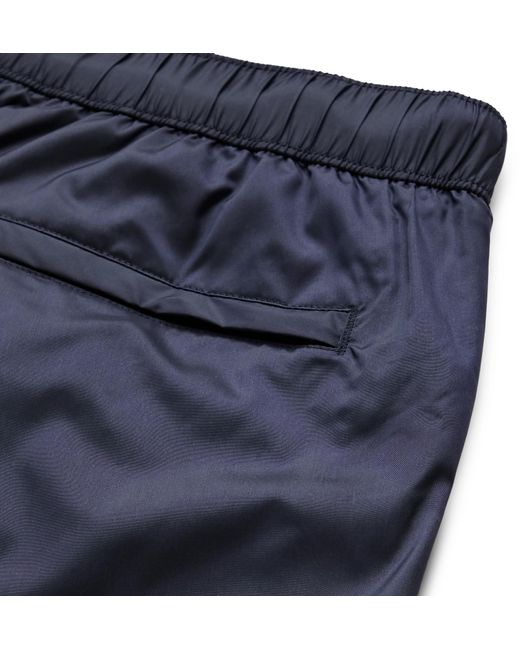 Acne Studios Men's Blue Slim-fit Mid-length Swim Shorts
