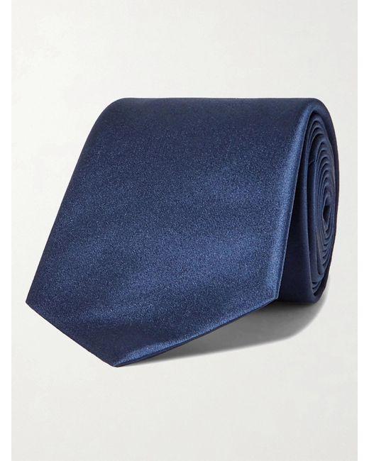 Lanvin Blue 7cm Silk Tie for men