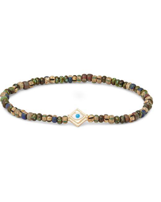 Luis Morais   Metallic Glass Bead Enamelled Gold Bracelet for Men   Lyst
