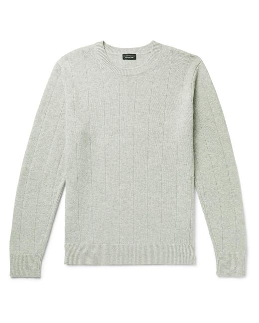 Club Monaco Gray Ribbed Mélange Wool And Cashmere-blend Sweater for men