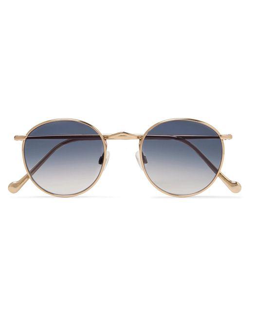 Moscot Metallic Zev Round-frame Gold-tone Titanium Sunglasses for men