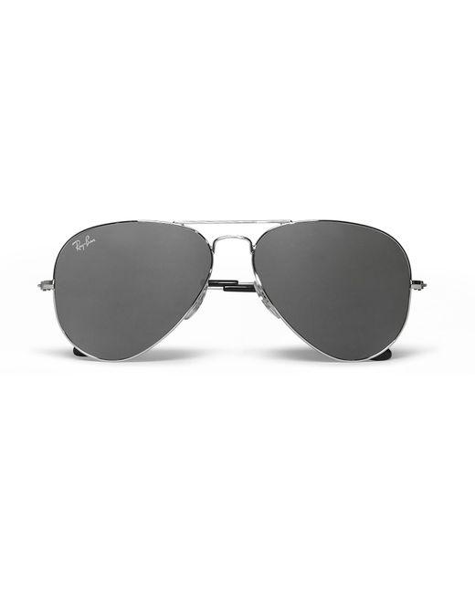 efa8387e2fa Lyst - Ray-Ban Aviator Silver-tone Sunglasses in Black for Men