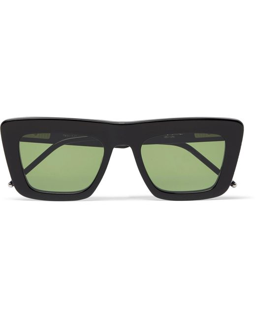 b14709df0c9 Thom Browne - Black Square-frame Acetate Optical Sunglasses for Men - Lyst  ...