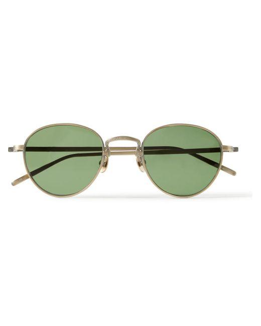 Matsuda Metallic Round-frame Gold-tone Titanium Sunglasses for men
