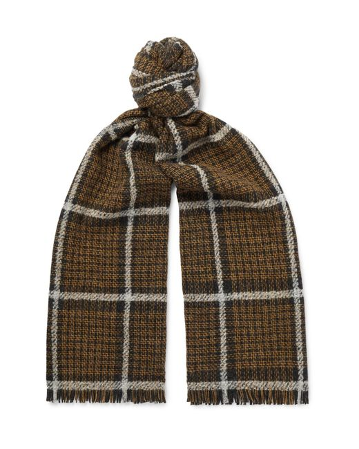 Mr P. - Multicolor Checked Wool-blend Scarf for Men - Lyst
