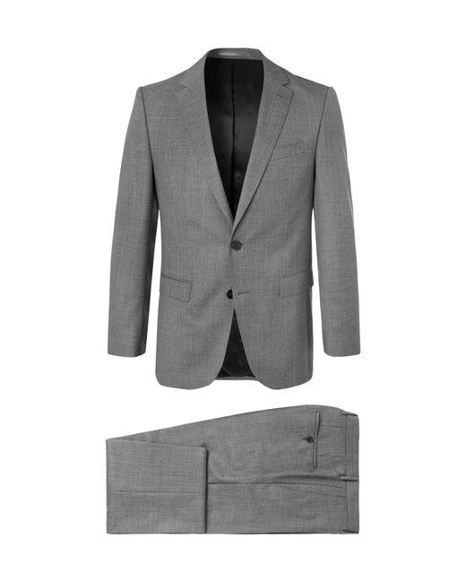 BOSS - Gray Grey Novan/ben Slim-fit Mélange Super 120s Virgin Wool Suit