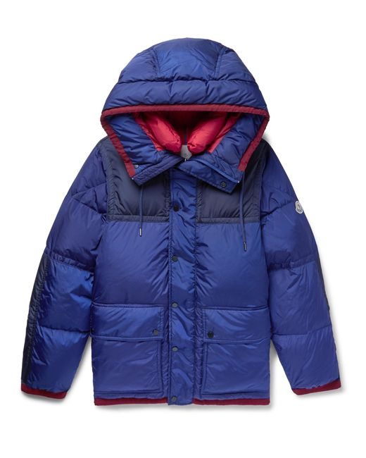 Moncler | Blue Empire K2 Panelled Quilted Shell Down Jacket for Men | Lyst