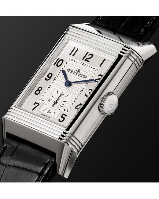 17b0ce88ab6 ... Jaeger-lecoultre - Metallic Reverso Classic Large Duoface 28mm  Stainless Steel And Leather Watch for ...