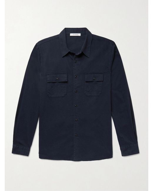 FRAME Blue Cotton-twill Shirt for men