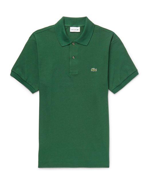 Lacoste - Green Cotton-piqué Polo Shirt for Men - Lyst