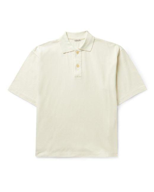 Auralee Multicolor Oversized Cotton-piqué Polo Shirt for men