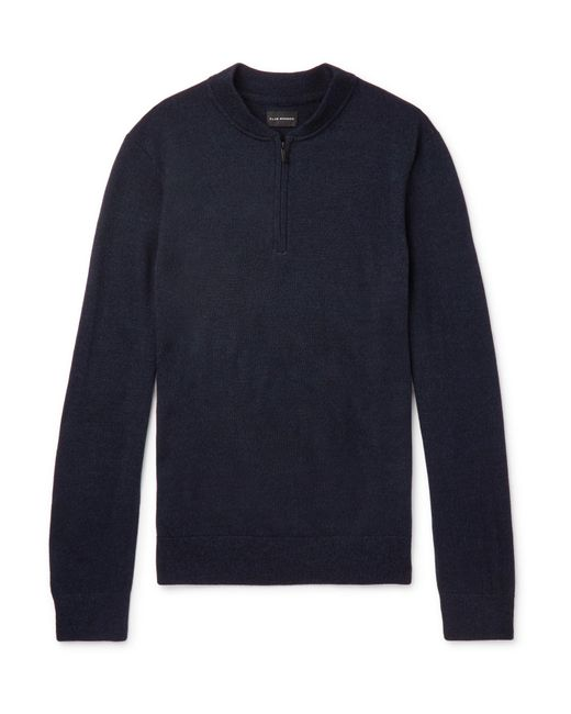 Men in Sweater zip Monaco Blue Half Lyst Merino Club for Wool pqwzBwH4