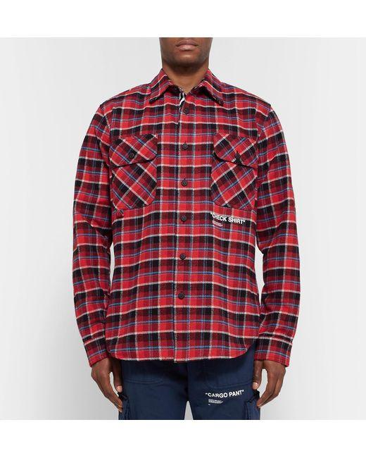 364039245805 ... Off-White c o Virgil Abloh - Red Check Shirt for Men - Lyst ...