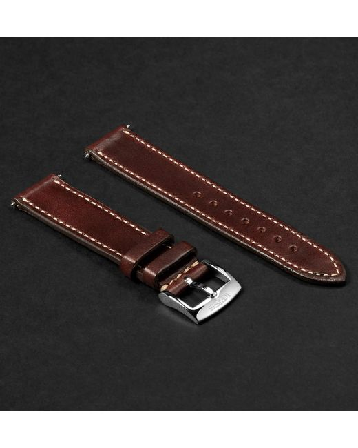 Weiss Brown Leather Watch Strap for men