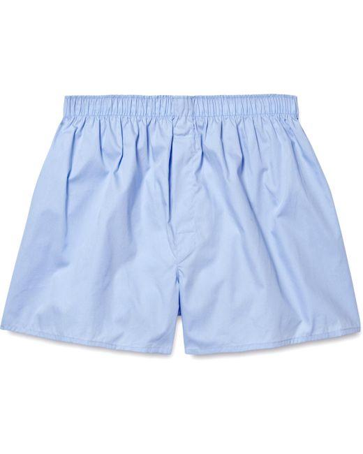 Sunspel Blue Cotton Boxer Shorts for men