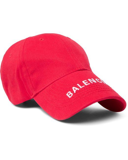 Balenciaga - Logo-embroidered Cotton-twill Baseball Cap for Men - Lyst ... b6470d6f191d