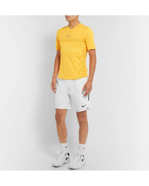 318bbc6cdb1 Men's White Nikecourt Flex Ace Slim-fit Dri-fit Tennis Shorts