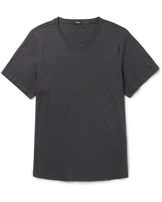 Theory | Blue Curve Cotton-jersey T-shirt for Men | Lyst