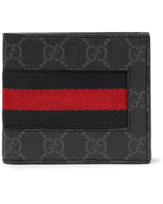 Gucci Black 'web' Bi-fold Wallet for men
