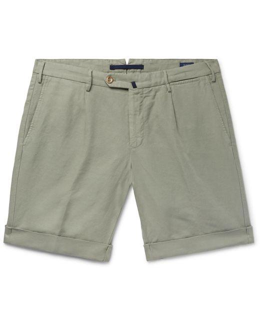 d0b46b95b694ec incotex-sage-green-Slim-fit-Garment-dyed-Linen-And-Cotton-blend-Shorts.jpeg