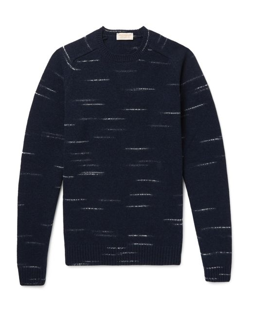 John Smedley - Blue Energy Mélange Wool And Cashmere-blend Sweater for Men - Lyst