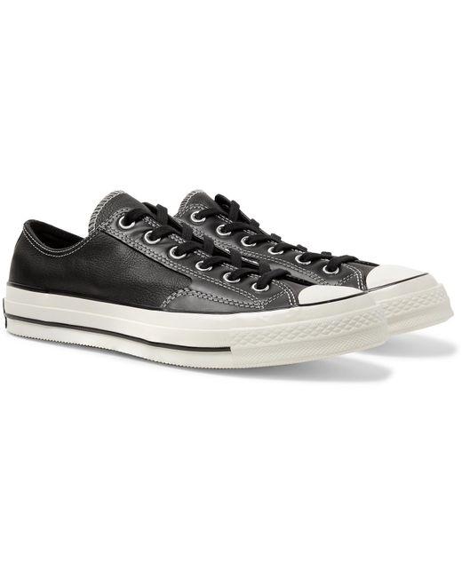 349e3431ef0 Converse. Men's Black 1970s Chuck Taylor All Star Full-grain Leather  Sneakers