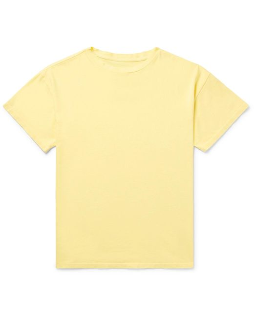 The Elder Statesman - Yellow Cotton-jersey T-shirt for Men - Lyst