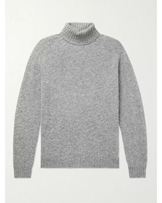 Howlin' By Morrison Gray Sylvester Slim-fit Mélange Wool Rollneck Sweater for men