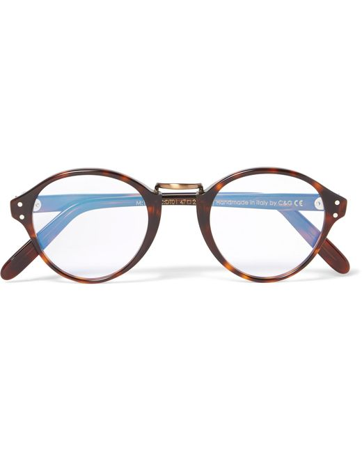 Cutler & Gross - Brown Round-frame Acetate And Burnished Gold-tone Optical Glasses for Men - Lyst