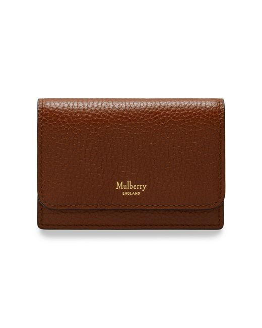 Mulberry - Brown Continental Card Holder - Lyst