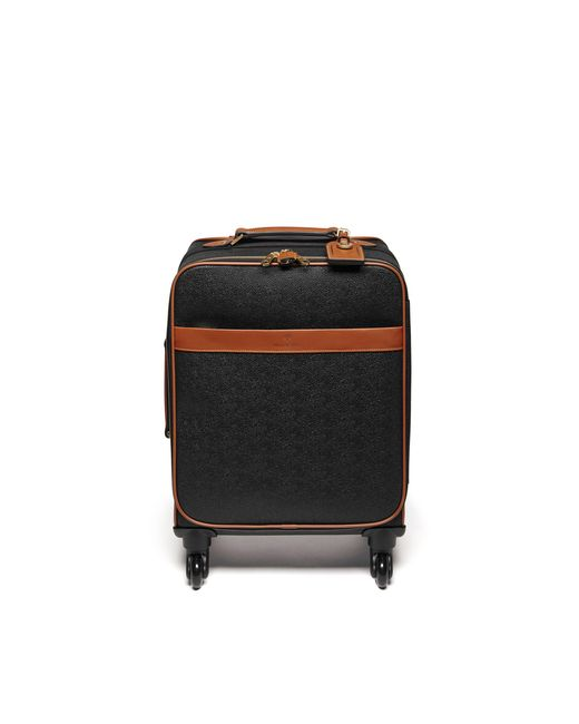 Mulberry - Four Wheel Trolley In Black And Cognac Scotchgrain - Lyst