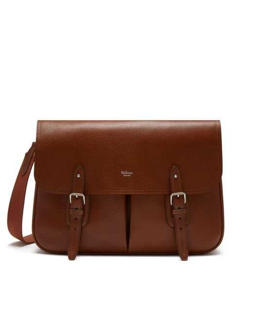 Mulberry - Brown Heritage Messenger In Oak Natural Grain Leather for Men - Lyst