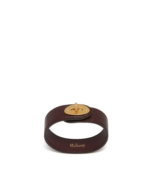 Mulberry - Multicolor Bayswater Leather Bracelet In Oxblood - Lyst