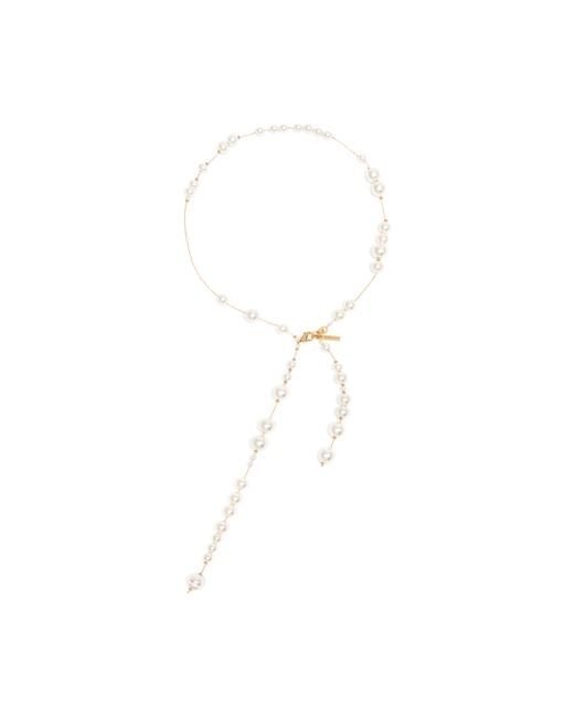 Mulberry | White Pearl Necklace | Lyst