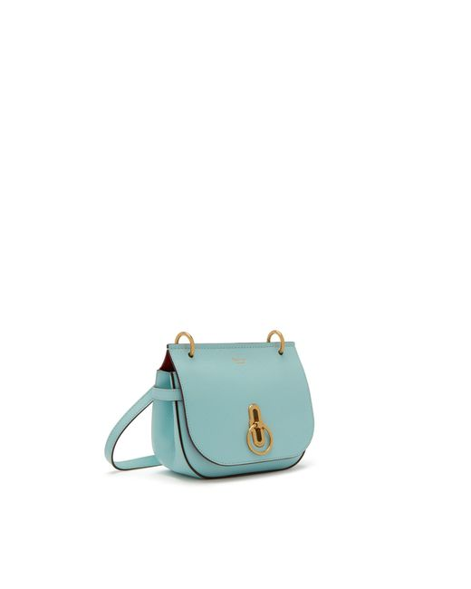7fe9594118a Mulberry - Small Amberley Satchel In Light Antique Blue Small Classic Grain  - Lyst