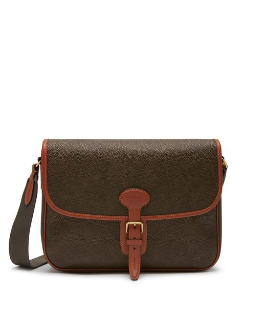 Mulberry - Brown Small Heritage Messenger In Mole And Cognac Scotchgrain for Men - Lyst