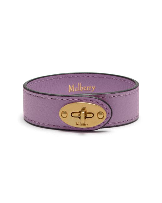 Mulberry | Purple Bayswater Leather Bracelet | Lyst