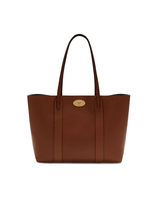 Mulberry Brown Bayswater Tote In Oak Small Classic Grain