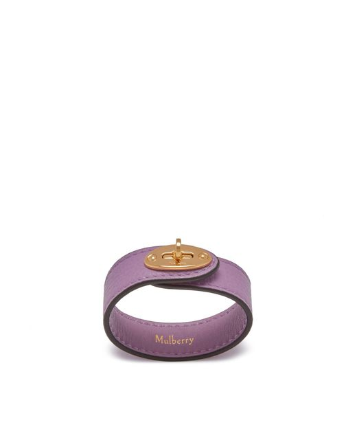 Mulberry - Purple Bayswater Leather Bracelet In Lilac Small Classic Grain - Lyst