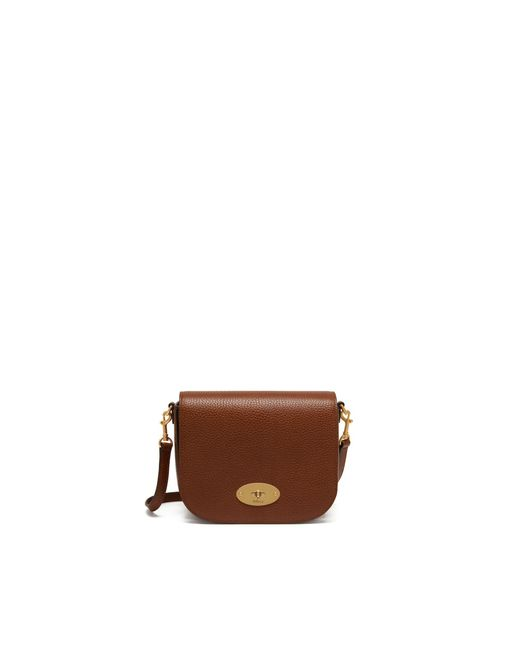 Mulberry Multicolor Small Darley Satchel In Oak Natural Grain Leather