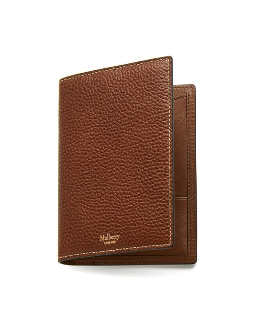 d217c7d8ac2b Mulberry - Brown Passport Cover Wallet for Men - Lyst ...