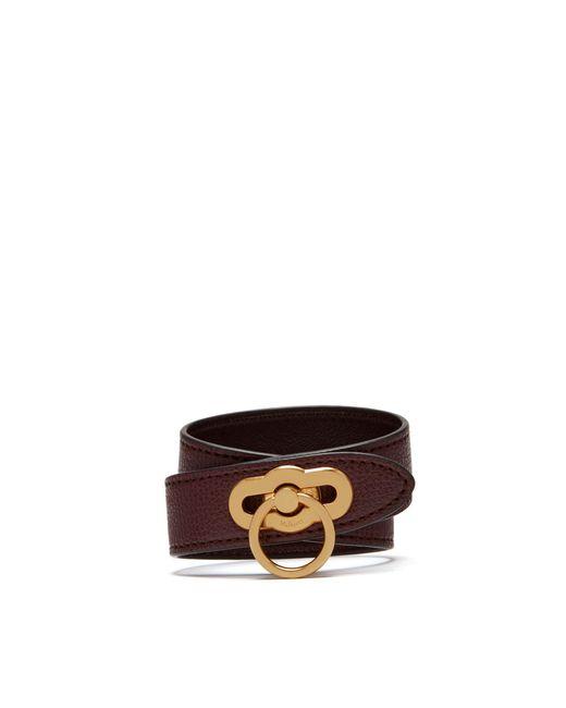Mulberry - Multicolor Amberley Double Bracelet In Oxblood Cross Grain Leather - Lyst