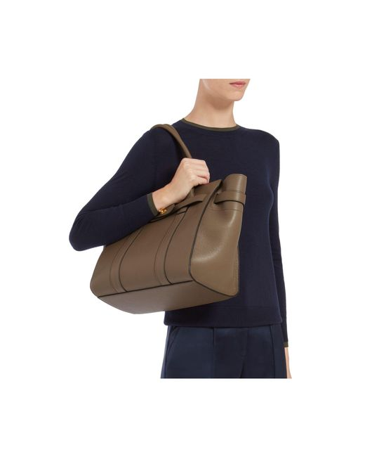 0b4a2d6206 ... australia latest mulberry new bayswater tote clay natural grain leather  mulberry multicolor zipped bayswater lyst 0569a
