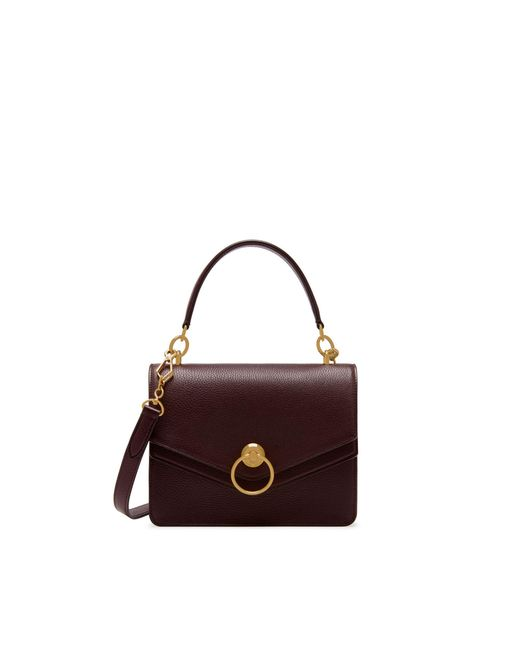 Mulberry - Multicolor Harlow Satchel In Oxblood Small Classic Grain - Lyst