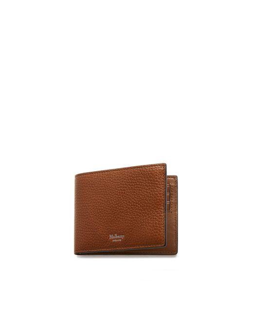 Mulberry Multicolor 8 Card Wallet In Oak Natural Grain Leather for men