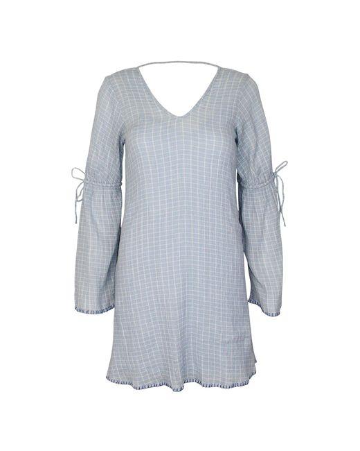 Michael Stars Blue V-neck Shift Dress