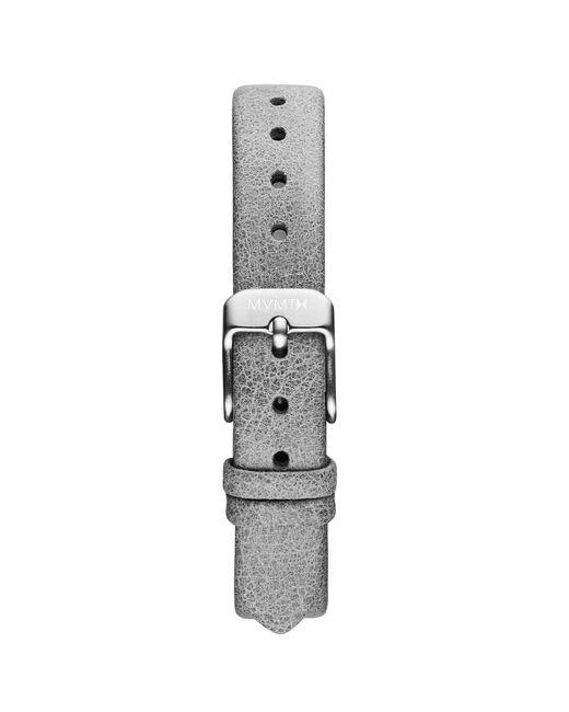 MVMT - Metallic Mod - 12mm Grey Leather - Lyst