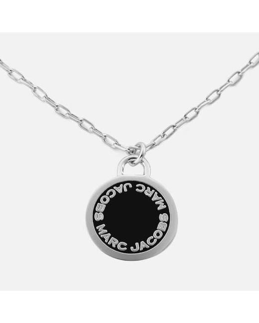 Marc Jacobs   Metallic Enamel Logo Disc Pendant Necklace   Lyst