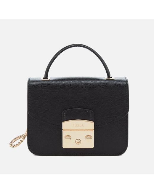 Furla | Black Metropolis Mini Top Handle Bag | Lyst