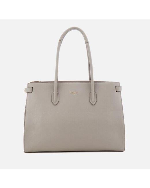 Furla | Gray Pin Medium East West Tote Bag | Lyst